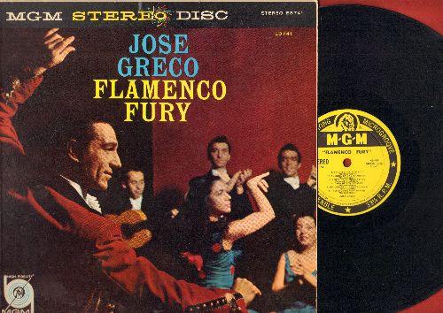 Greco, Jose - Flamenco Fury: Tabales Del Tablado, Aleria En cadiz, Fiesta Jerezana, Llama Y Fuego, Encuentro (vinyl STEREO LP record) - EX8/EX8 - LP Records