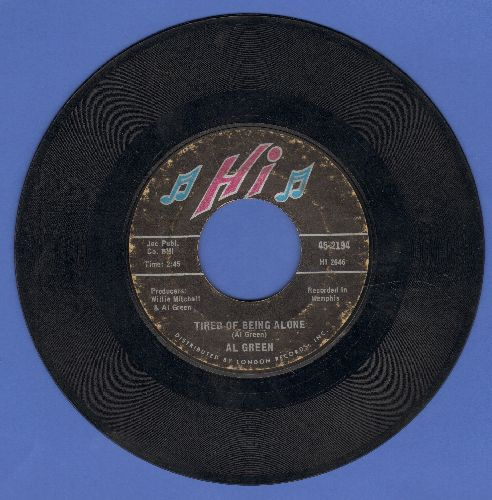 Green, Al - Tired Of Being Alone/Get Back Baby  - VG7/ - 45 rpm Records