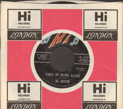 Green, Al - Tired Of Being Alone/Get Back Baby (with Hi company sleeve) - EX8/ - 45 rpm Records