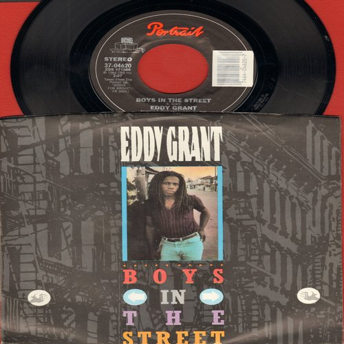 Grant, Eddy - Boys In The Street/Time To Let Go (with picture sleeve) - M10/NM9 - 45 rpm Records