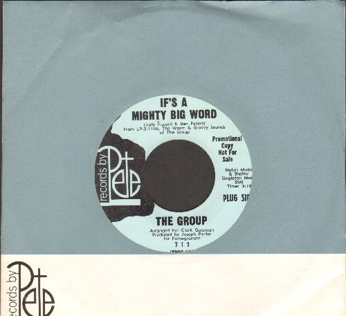 Group - If's A Mighty Big Word/But You Know I Love You (DJ advance pressing with company sleeve) - NM9/ - 45 rpm Records