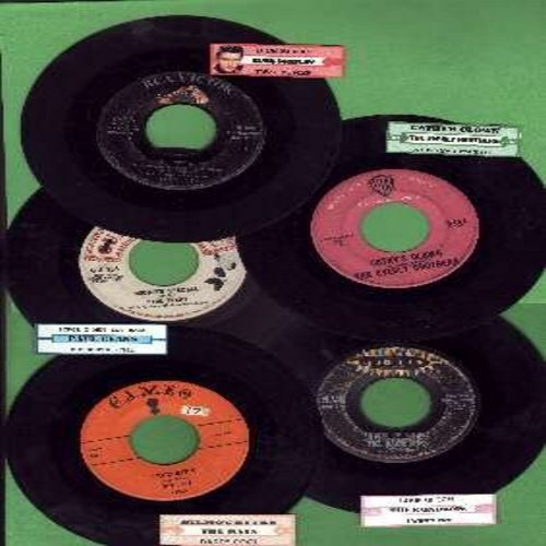 Evans, Paul, Elvis Presley, Everly Brothers, Rays, Raindrops - 5-Pack of Original First-Issue Hit 45s, all in very good or better condition, each with juke box label and plain white paper sleeve. Hit titles include Midnight Special, Jailhouse Rock, Cathy'