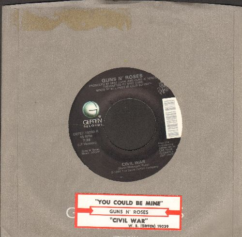 Guns N' Roses - You Could Be Mine/Civil War (with Geffen company sleeve and juke box label) - NM9/ - 45 rpm Records