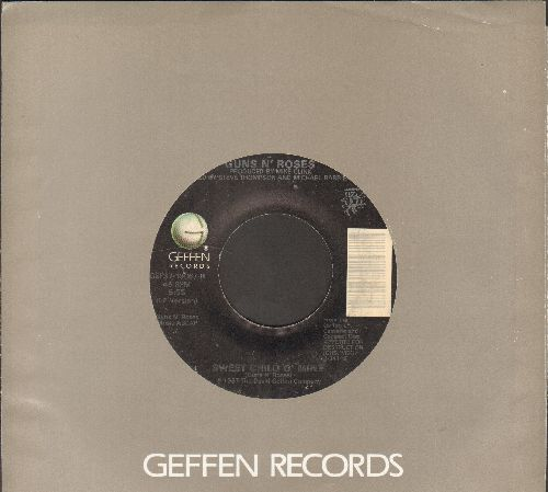 Guns N' Roses - Sweet Child O'Mine/November Rain (with Geffen company sleeve) - EX8/ - 45 rpm Records