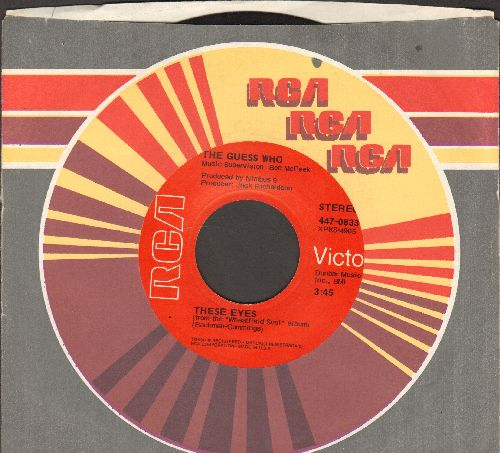 Guess Who? - These Eyes/No Time (red label with alternate flip-side) - EX8/ - 45 rpm Records