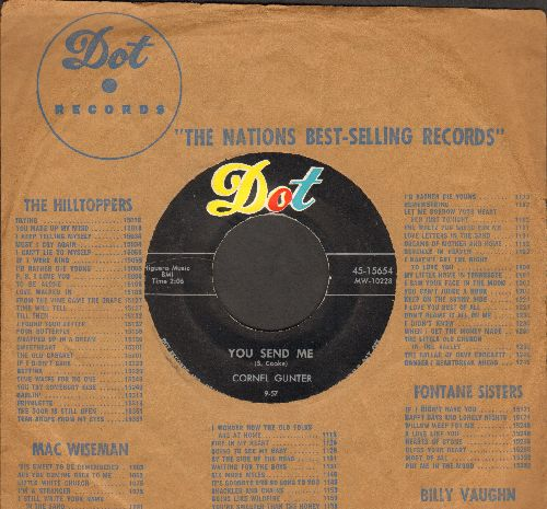 Gunter, Cornel - You Send Me/Call Me A Fool (with vintage Dot company sleeve) - EX8/ - 45 rpm Records