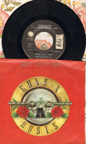 Guns N' Roses - Sweet Child O'Mine/It's So Easy (with picture sleeve) - NM9/EX8 - 45 rpm Records