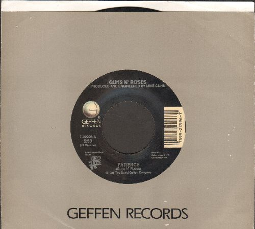Guns N' Roses - Patience/Rocket Queen (with Geffen company sleeve) - VG7/ - 45 rpm Records