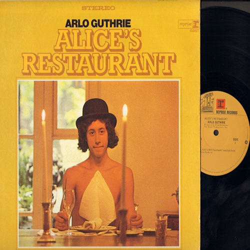 Guthrie, Arlo - Alices's Restaurant (Original full-length 18:20 minute LP version!) - includes 6 additional hilarious parody tracks (vinyl STEREO LP record, NICE condition!) - EX8/EX8 - LP Records