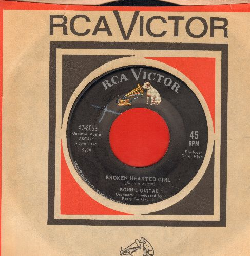 Guitar, Bonnie - Broken Hearted Girl/Who Is She? (with vintage RCA company sleeve) - NM9/ - 45 rpm Records
