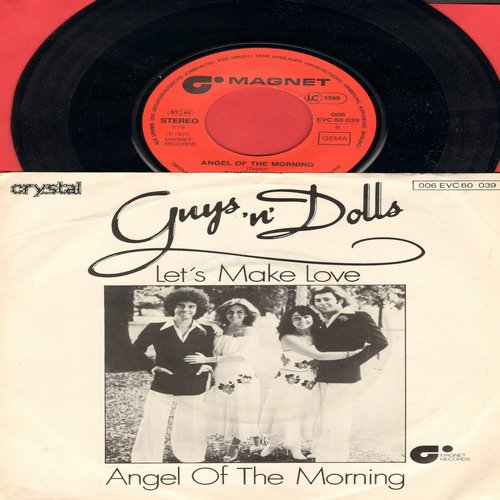 Guys'N Dolls - Angel Of The Morning/Let's Make Love (British Pressing with picture sleeve) - NM9/EX8 - 45 rpm Records