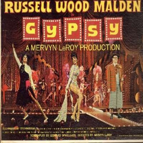 Gypsy - Gypsy: Original Motion Picture Sound Track - Includes songs Some People, If Mama Was Married, Everything's Coming Up Roses, Let Me Entertain You, Small World, more!  (vinyl STEREO LP record) - EX8/EX8 - LP Records