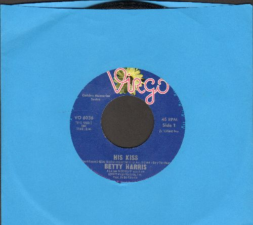 Harris, Betty - His Kiss/It's Dark Outside (double-hit re-issue) - NM9/ - 45 rpm Records