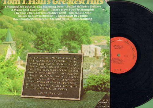 Hall, Tom T. - Greatest Hits: Homecoming, Ballad Of Forty Dollars, Shoeshine Man, Me And Jesus (vinyl STEREO LP record) - NM9/VG7 - LP Records