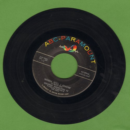 Hamilton, George IV - When Will I Know/Your Cheatin' Heart - NM9/ - 45 rpm Records