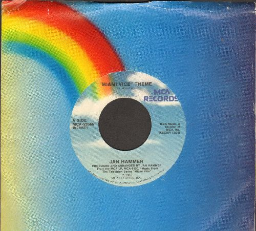 Hammer, Jan - Miami Vice Theme/Evan/The Original Miami Vice Theme (with MCA company sleeve) - NM9/ - 45 rpm Records