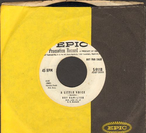 Hamilton, Roy - A Little Voice/All This Is Mine (To Have And To Hold) (DJ advance pressing with vintage Epic company sleeve) - NM9/ - 45 rpm Records