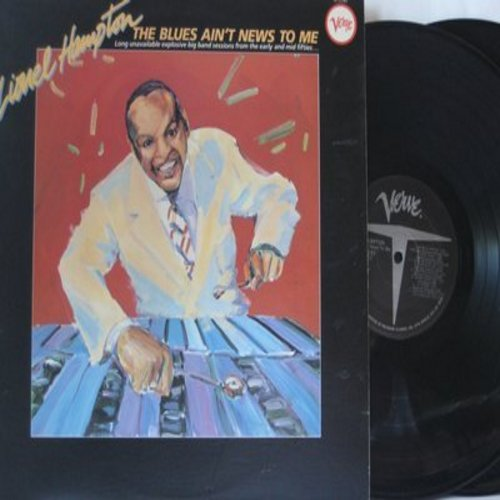 Hampton, Lionel - The Blues Ain't News To Me: Air Mail Special, Cool Train, Pig Ears & Rice, Gabby's Gabbin', Samson's Boogie (2 vinyl MONO LP record set, gate-fold cover, re-issue of vintage recordings) - M10/NM9 - LP Records