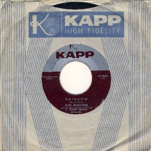 Hamilton, Russ - Rainbow/We Will Make Love (with vinatge Kapp company sleeve) - EX8/ - 45 rpm Records