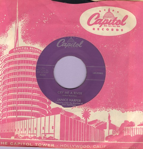 Harper, Janice - Cry Me A River/Just Say I Love Hi (with vintage Capitol company sleeve) - EX8/ - 45 rpm Records