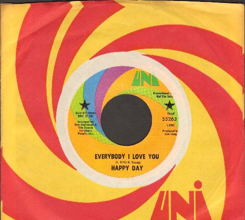 Happy Days - Everybody I Love You/Retribution (DJ advance pressing with Uni company sleeve) - EX8/ - 45 rpm Records