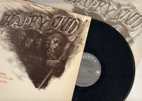 Lenya, Lotte - Happy End - Music by Kurt Weill, Lyrics by Bertolt Brecht. With Lotte Lenya (vinyl MONO LP record with BONUS German/English song lyrics pages, sung in German) - NM9/EX8 - LP Records