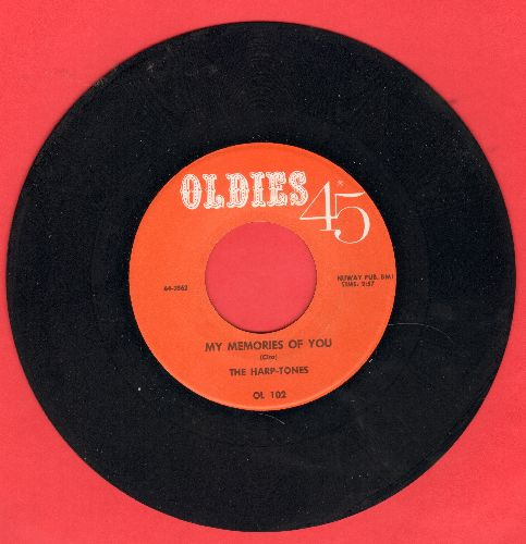 Harptones - My Memories Of You/Shake A Hand (by Faye Adams on flip-side) (re-issue) - M10/ - 45 rpm Records