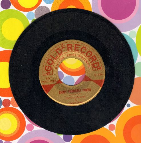 Dombrowski, Norm & The Happy Tunes - Enjoy Yourself Polka/No Assatall Polka (MINT condition!) - M10/ - 45 rpm Records