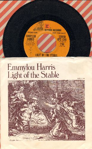 Harris, Emmylou - Light Of The Stable (double-A-sided DJ advance pressing with picture sleeve, song lyrics on back of sleeve) - NM9/NM9 - 45 rpm Records