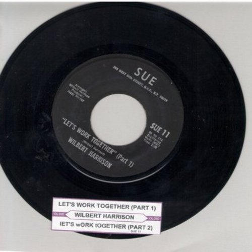 Harrison, Wilbert - Let's Work Together (Parts 1 + 2) (with juke box label) - EX8/ - 45 rpm Records