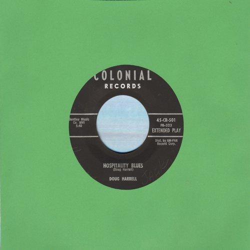 Harrell, Doug - Hospitality Blues/Exsanguination Blues  - EX8/ - 45 rpm Records