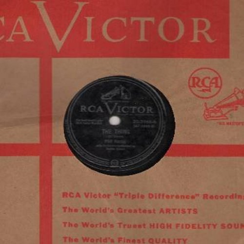 Harris, Phil - The Thing/Goofus (RARE vintage 10 inch 78rpm record with vintage RCA company sleeve) - VG7/ - 78 rpm