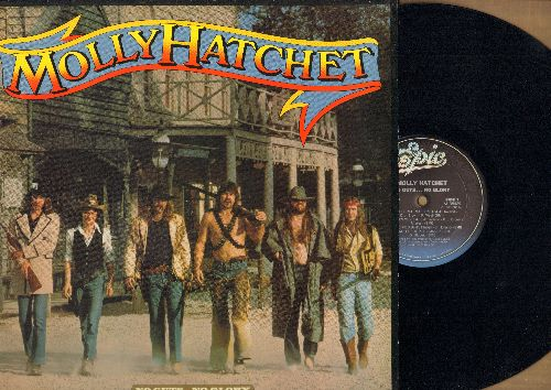 Molly Hatchet - No Guts…No Glory: Fall Of The Peacemakers, Under The Gun, On The Prowl, Sweet Dixie, What's It Gonna Take? (vinyl STEREO LP record, DJ advance pressing) - NM9/EX8 - LP Records