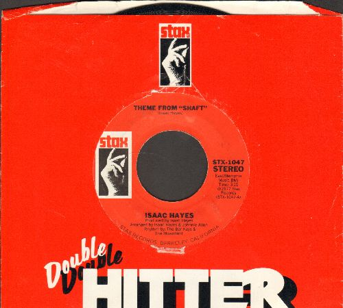 Hayes, Isaac - Theme From -Shaft-/Theme From -The Men- (double-hit re-issue with company sleeve) - NM9/ - 45 rpm Records