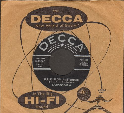 Hayes, Richard - Tulips From Amsterdam/So Happy In Love (with vintage Decca company sleeve) - EX8/ - 45 rpm Records