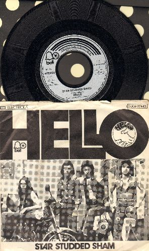 Hello - Star Studded Sham/Jenny Dream (German Pressing with picture sleeve) - NM9/VG7 - 45 rpm Records