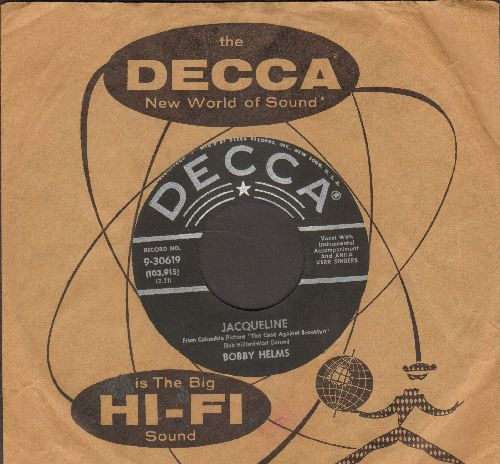 Helms, Bobby - Jaqueline/Living In The Shawdow Of The Past (NICE condition with Decca company sleeve) - NM9/ - 45 rpm Records