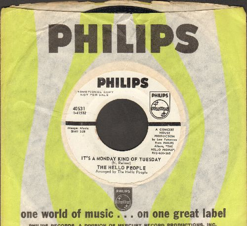 Hello People - (As, I Went Down To) Jerusalem/It's A Monday Kind Of Tuesday (DJ advance pressing with vintage Philips company sleeve) - EX8/ - 45 rpm Records