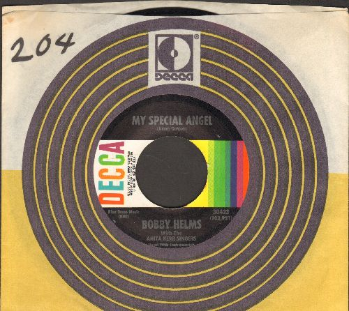 Helms, Bobby - My Special Angel/Standing At The End Of My World (MINT condition multi-color label with Decca company sleeve) - M10/ - 45 rpm Records