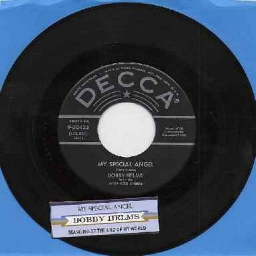 Helms, Bobby - My Special Angel/Standing At The End Of My World (silver lines/star first issue with juke box label) - EX8/ - 45 rpm Records