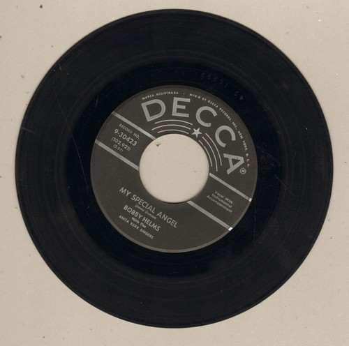 Helms, Bobby - My Special Angel/Standing At The End Of My World (silver lines/star first issue) - VG7/ - 45 rpm Records