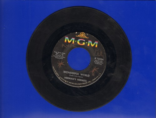 Herman's Hermits - Wonderful World/Traveling Light  - VG7/ - 45 rpm Records