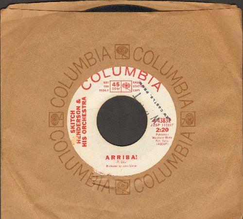 Henderson, Stitch & His Orchestra - Arriba!/The Apple Tree (DJ advance pressing with Columbia company sleeve, wol) - EX8/ - 45 rpm Records
