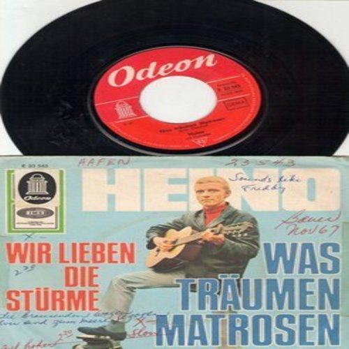 Heino - Was traumen Matrosen/Wir lieben die Sturme (German Pressing with picture sleeve, sung in German) (wos) - NM9/VG6 - 45 rpm Records