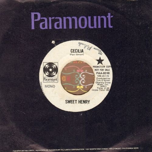 Sweet Henry - Cecilia/Oh! Reba (DJ advance pressing with Paramount company sleeve)(minor wol) - EX8/ - 45 rpm Records