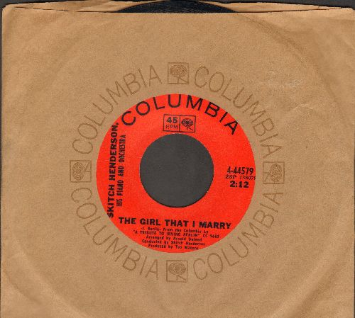 Henderson, Stitch & The Tonight Show Orchestra - The Girl That I Marry/All Alone (with Columbia company sleeve) - NM9/ - 45 rpm Records