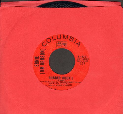 Ernie (Jim Henson) - Rubber Duckie/Sesame Street  - NM9/ - 45 rpm Records