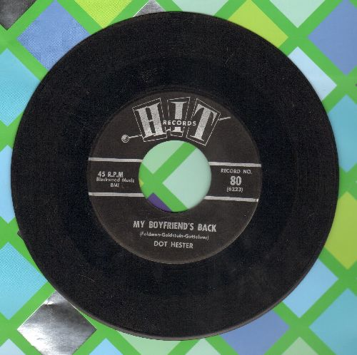 Hester, Dot - My Boyfriend's Back/The Monkey Time (by Sammy Fox on flip-side) (contemporary cover versions) - EX8/ - 45 rpm Records