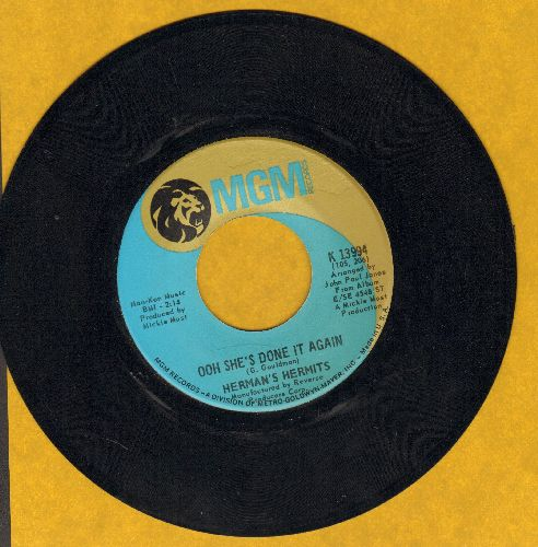 Herman's Hermits - Ooh She's Done It Again/The Most Beautiful Thing In My Life - EX8/ - 45 rpm Records