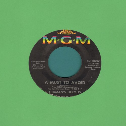 Herman's Hermits - A Must To Avoid/The Man With The Cigar - EX8/ - 45 rpm Records